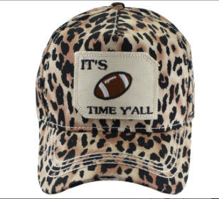Leopard Football Time Baseball Cap