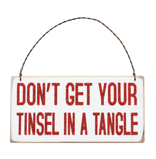 Tinsel In A Tangle Ornament-SALE
