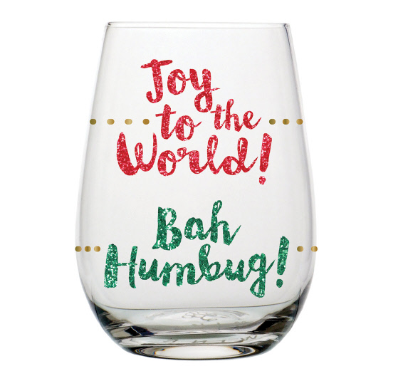 Joy Humbug Stemless Wine Glass
