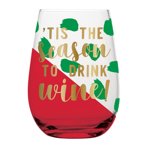 Season To Drink Wine Stemless Wine Glass