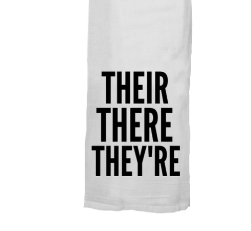 Their There They're Dish Towel