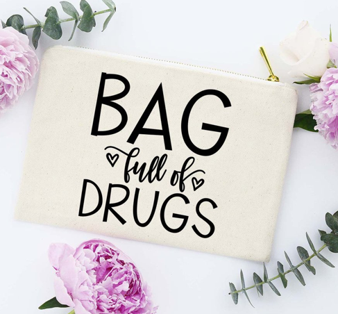 Bag of Drugs Makeup Bag