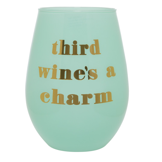Third Wines A Charm 20oz Stemless Wineglass