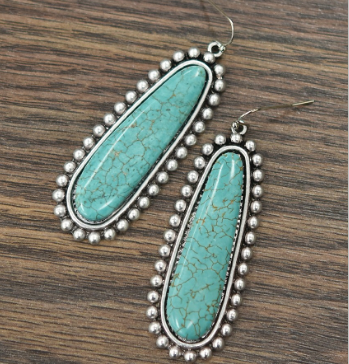 Navajo Beaded Turquoise Earrings