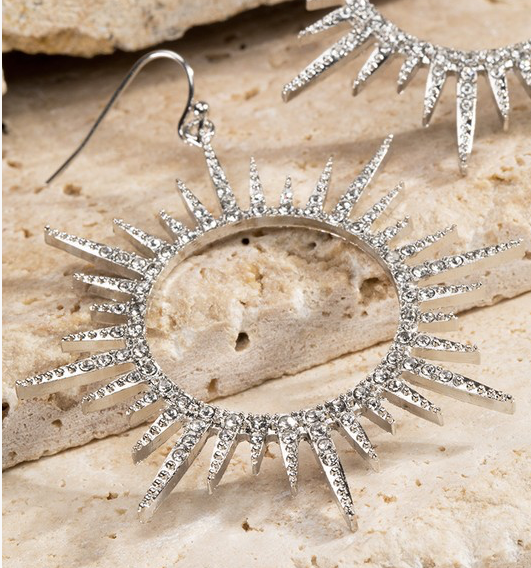 Sunrise Spiked Diamond Earrings- 2 COLORS