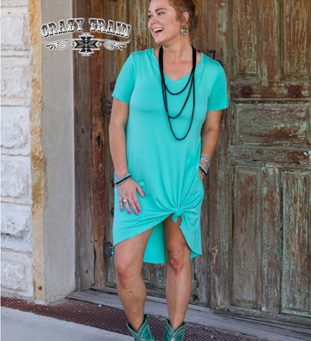 Turquoise Druzzy Dress