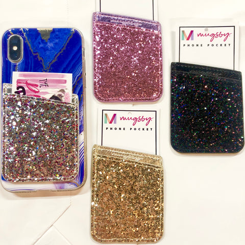 Glitter Phone Wallet- 4 COLORS