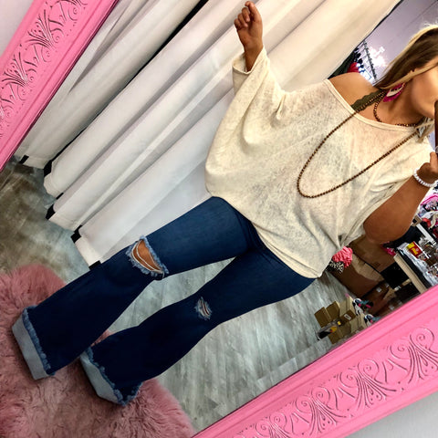 Taupe Off Shoulder Lounge Top