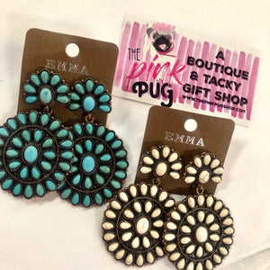 Dolly Squash Blossom Earrings- 2 COLORS