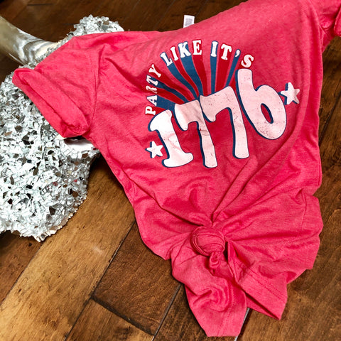 Retro Party Like It's 1776 Unisex Tee