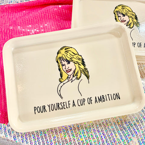 Cup Of Ambition Dolly Cambro Tray