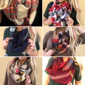 Black Friday Scarves- Blanket & Infinity