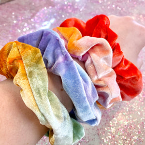 Velvet Tie Dye Scrunchies- 4 COLOR COMBOS!