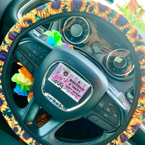 Sunflower Steering Wheel Cover