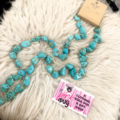 Chunky Turquoise Stone Layer Necklace