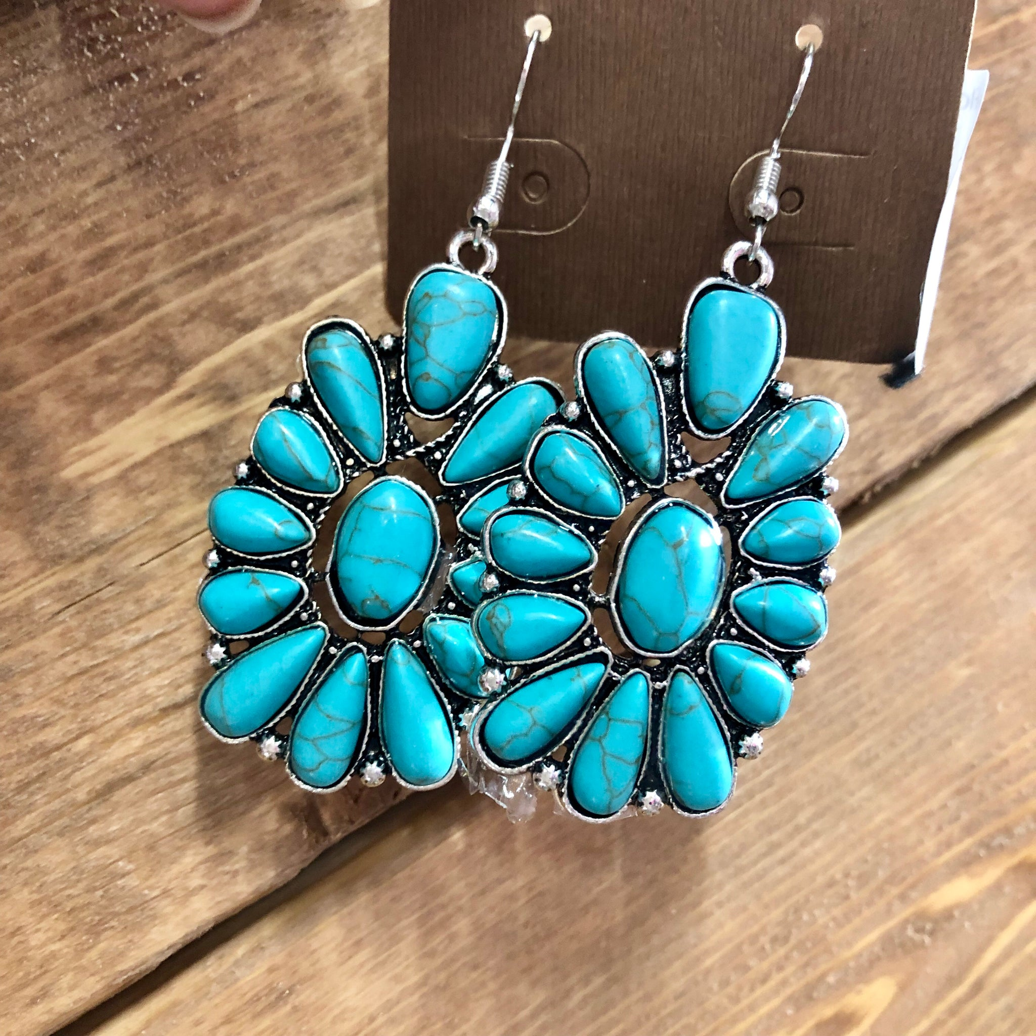 Flower Stone Squash Earrings- 3 COLORS!