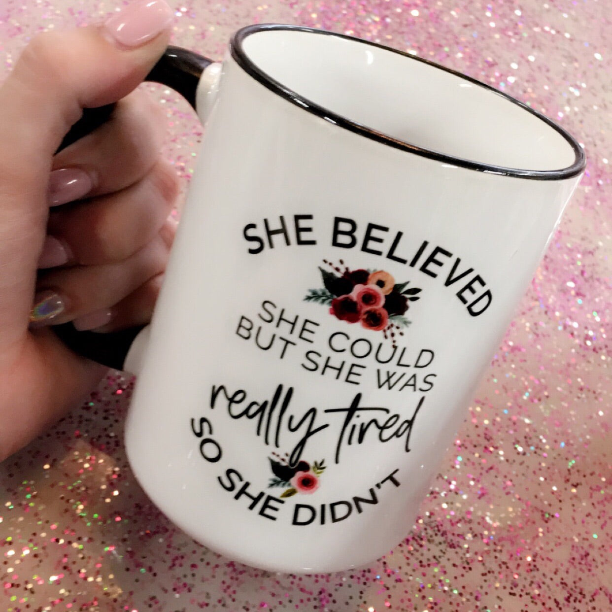 She Believed She Could, But Was Tired Coffee Mug