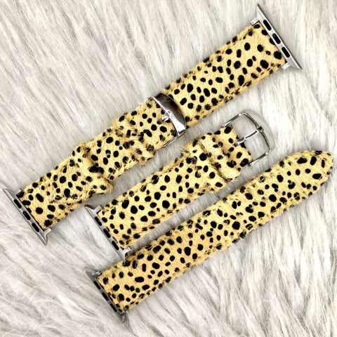 Leopard Hide Apple Watch Bands