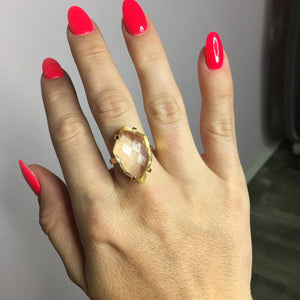 Clear Glam Ring