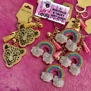 Cute Diamond Keychain- 4 STYLES!