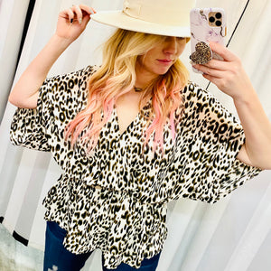 Snow Leopard Babydoll Top