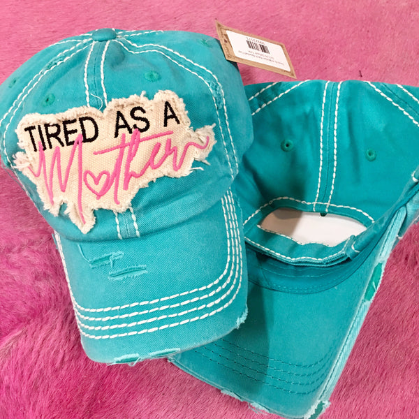 Tired As A Mother Patch Baseball Cap