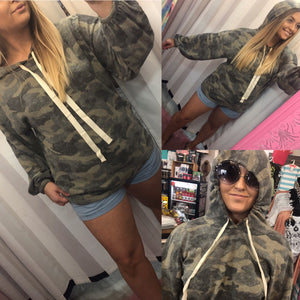 She Doesn't Even Go Here Camo Hoodie