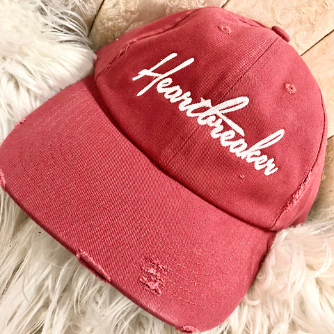 Heartbreaker Embroidered Cap-SALE