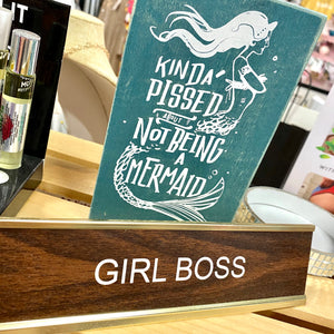 Not A Mermaid Box Sign