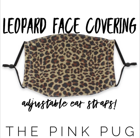 Leopard Face Covering ((ADJUSTABLE EAR LOOPS))