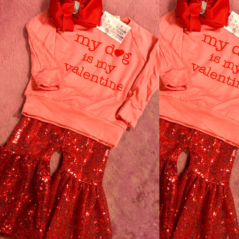 My Dog Is My Valentine Kids Top