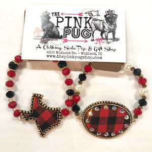 Buffalo Plaid Texas Bracelet
