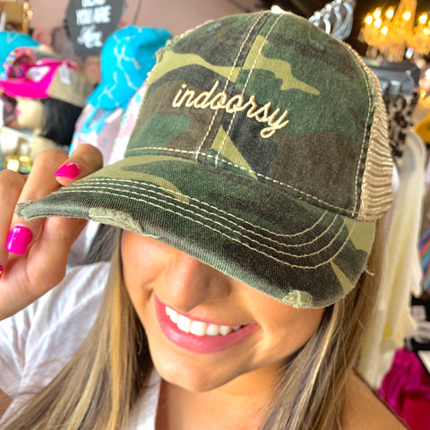 Indoorsy Embroidered Camo Hat