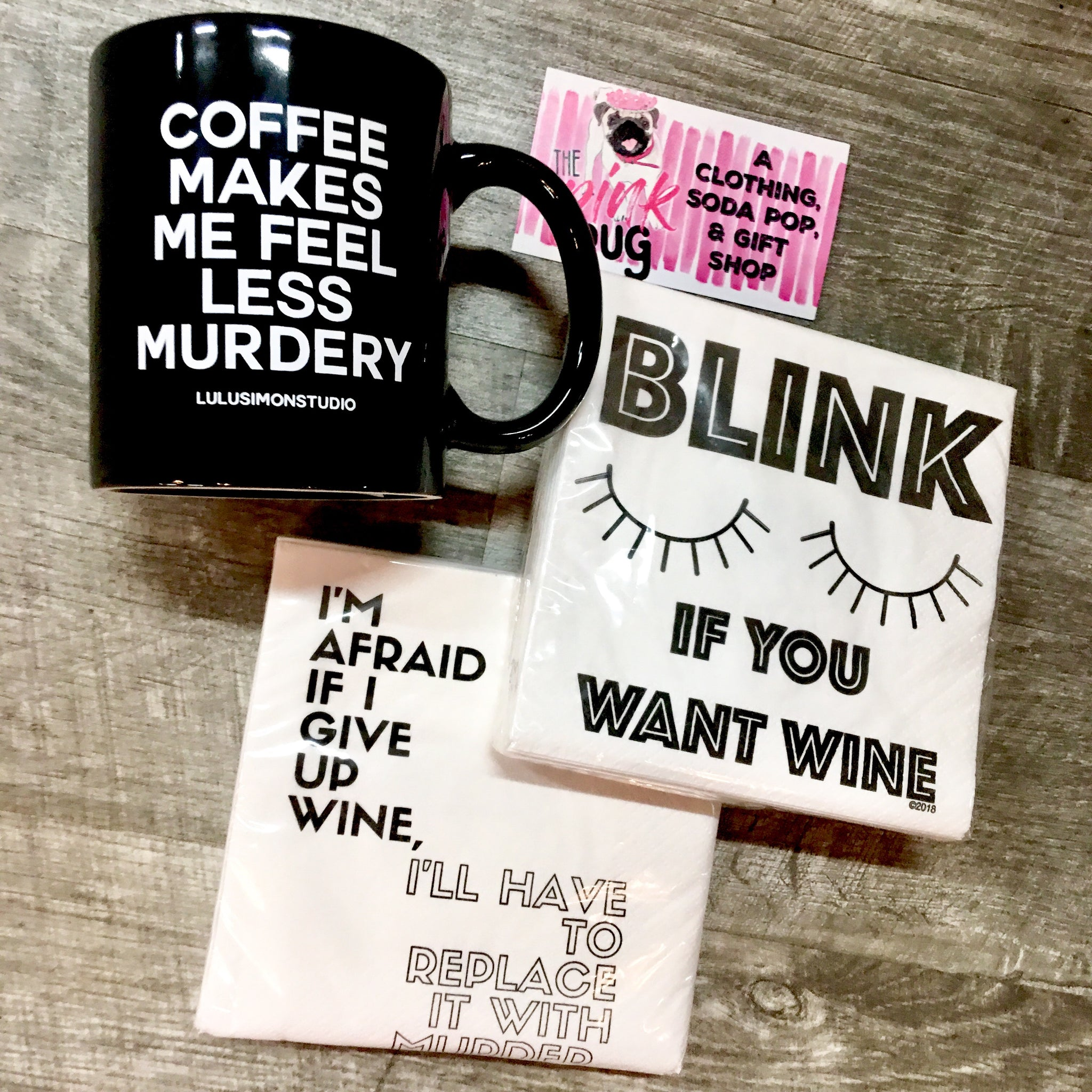 Blink If You Want Wine Napkins