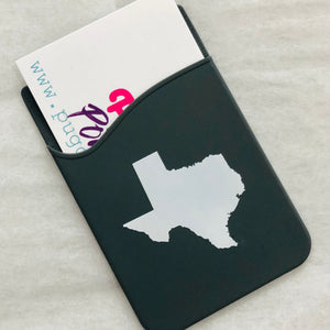 Texas Silicone Phone Pocket Wallet