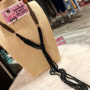 Black Multi Layer Loop Necklace