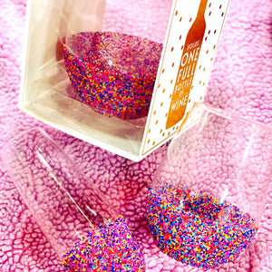 Giant Sprinkles Dipped Oversized Wine Glass