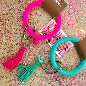 Key Ring W/ Tassel- 2 COLORS