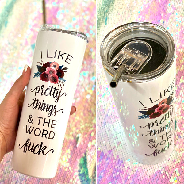 Pretty Things & The Word Fuck Travel Cup