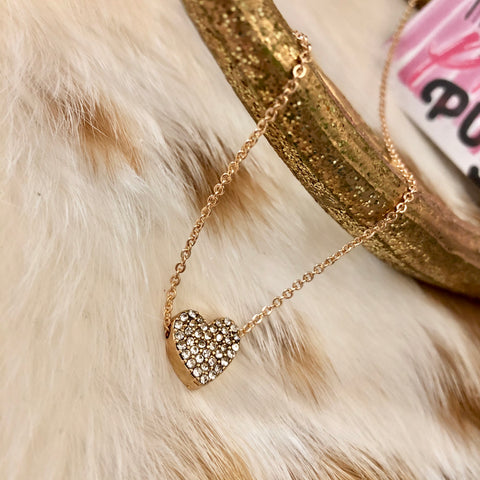 Dainty Diamond Heart Necklace