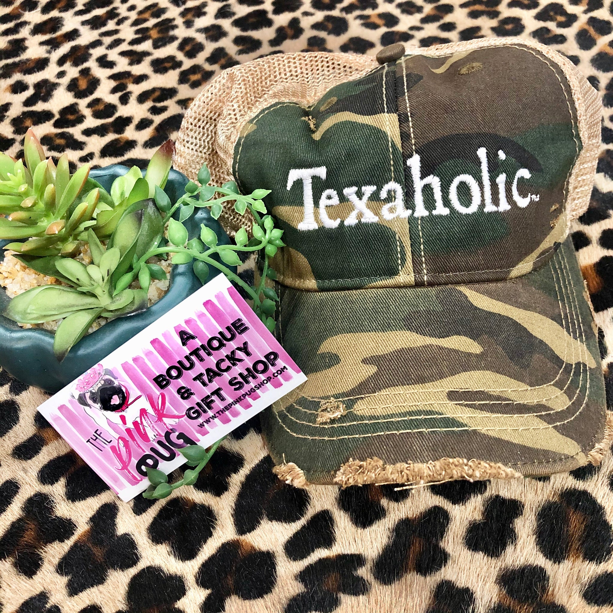 Texaholic Embroidered Mesh Back Cap- 3 COLORS