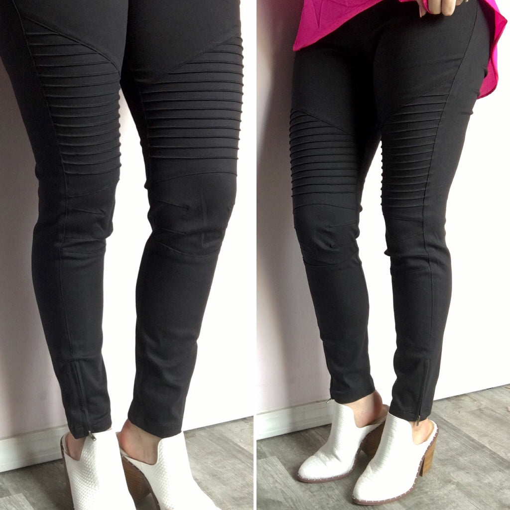 Black Moto Jeggings