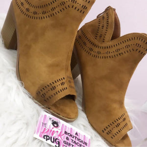 The Megan Taupe Cutout Bootie