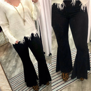 Ring My Bell Black Bell Bottom Pants