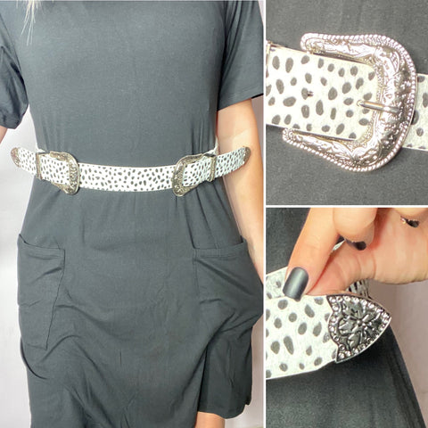 Dotted Double Buckle Belt