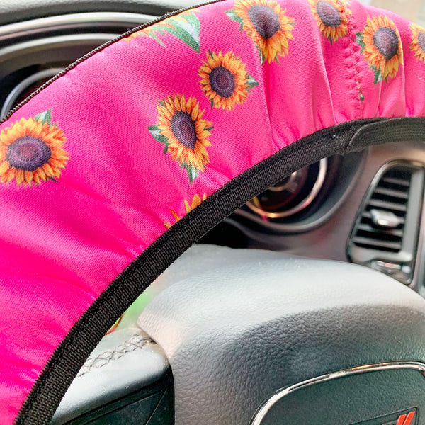 Sunflower Steering Wheel Cover- 2 COLORS