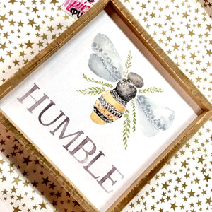 Humble Inset Box Sign