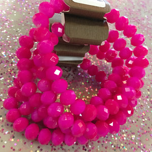 Hot Pink Layer Bracelet
