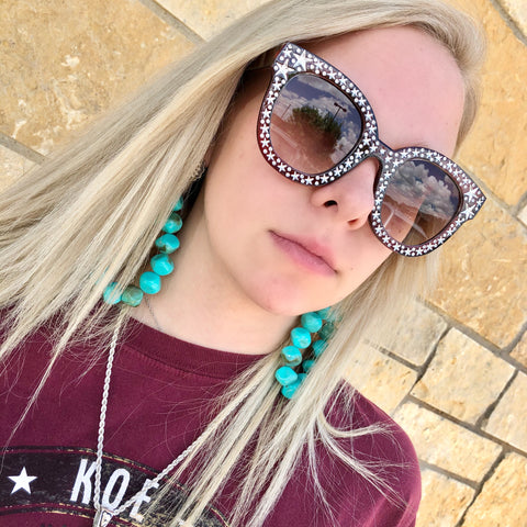 Star Studded Sunglasses- 3 COLORS