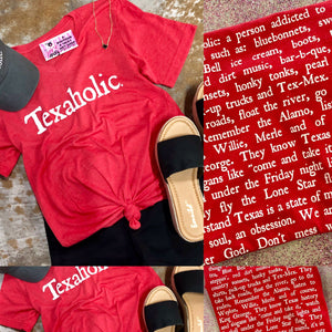 Red Texaholic Tee